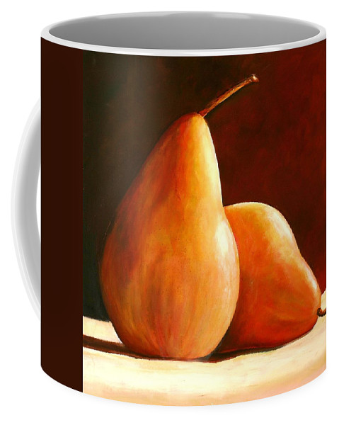 Pear Coffee Mug featuring the painting Pair Of Pears by Toni Grote