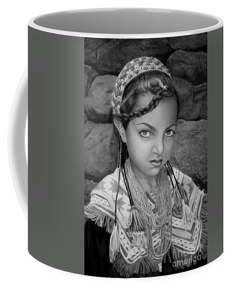 People Portraits Coffee Mug featuring the painting Pakistani Girl by Portraits By NC