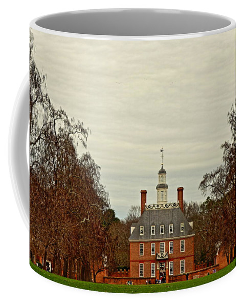 Colonial Williamsburg Coffee Mug featuring the photograph Palace Green by Rand Wall