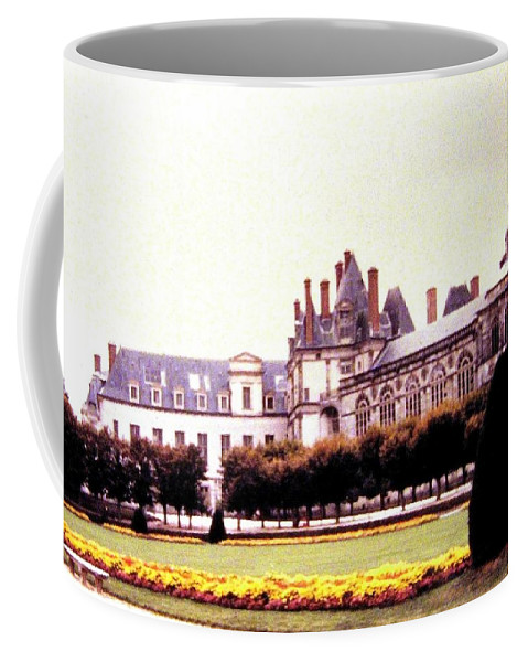 1955 Coffee Mug featuring the photograph Palace Of Fontainebleau 1955 by Will Borden