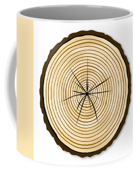 Pale Coffee Mug featuring the digital art Pale Log End by Bigalbaloo Stock