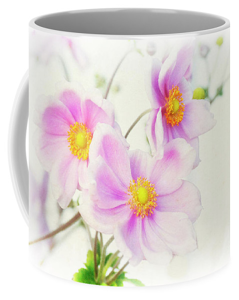 Pink Coffee Mug featuring the photograph Pale Pink Anemone by Jim And Emily Bush