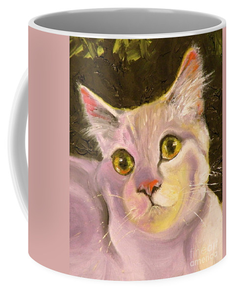 Cat Coffee Mug featuring the painting Best Friend by Susan A Becker