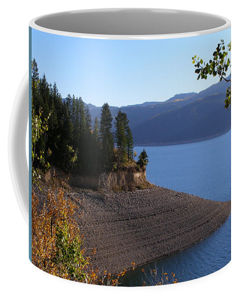 Lake Coffee Mug featuring the photograph Palisades by DeeLon Merritt