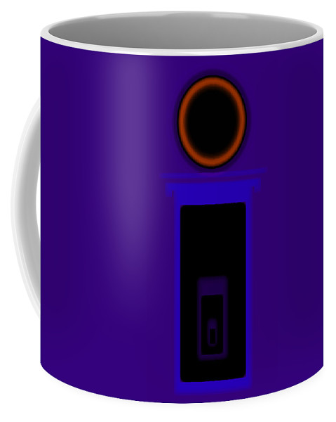 Palladian Coffee Mug featuring the painting Palladian Violet by Charles Stuart