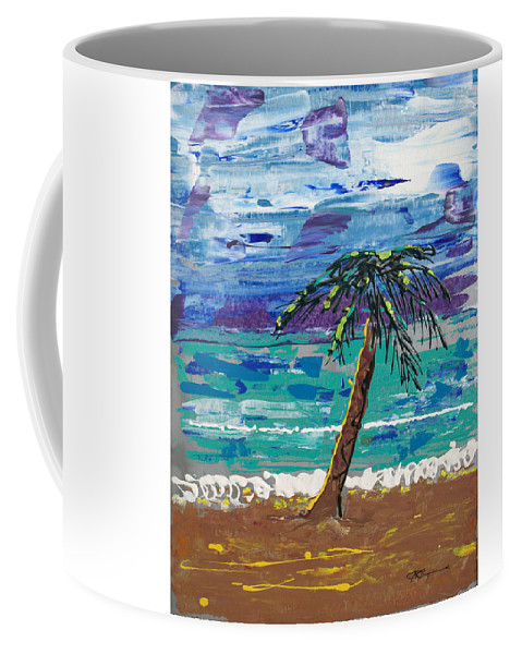 Impressionist Painting Coffee Mug featuring the painting Palm Beach by J R Seymour