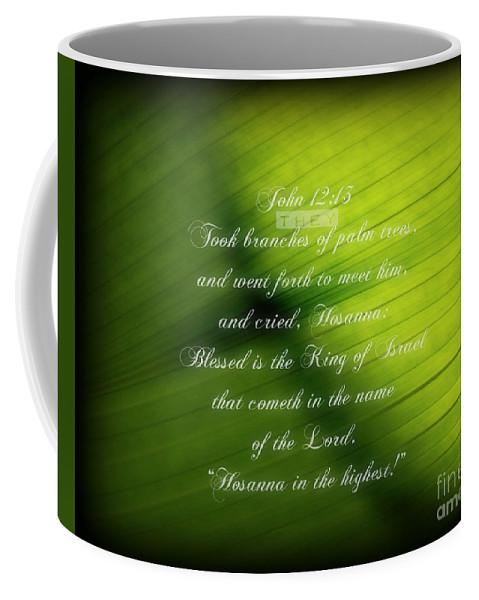 Palm Branch Coffee Mug featuring the photograph Palm Branch by Anita Faye