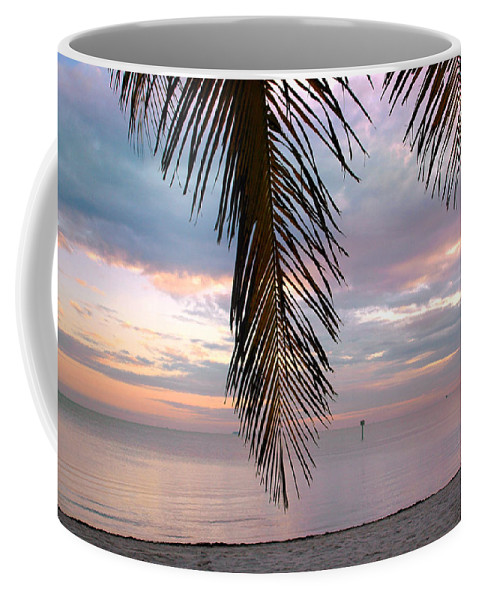 Palm Coffee Mug featuring the photograph Palm Courtain II by Susanne Van Hulst