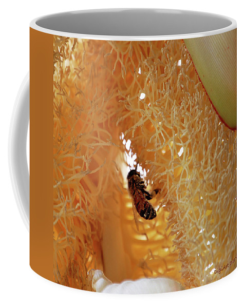 Palm Coffee Mug featuring the digital art Palm Pollination by DigiArt Diaries by Vicky B Fuller