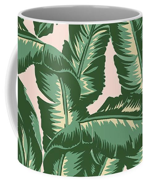 Leaves Coffee Mug featuring the digital art Palm Print by Lauren Amelia Hughes
