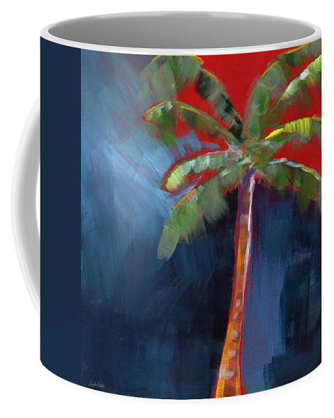 Palm Tree Coffee Mug featuring the painting Palm Tree- Art By Linda Woods by Linda Woods