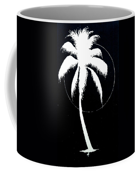 Tree Coffee Mug featuring the painting Palm Tree Number 8 by Michael Vigliotti