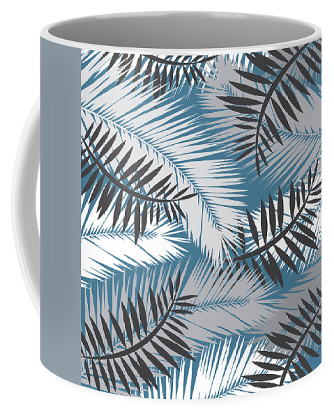 Summer Coffee Mug featuring the digital art Palm Trees 10 by Mark Ashkenazi