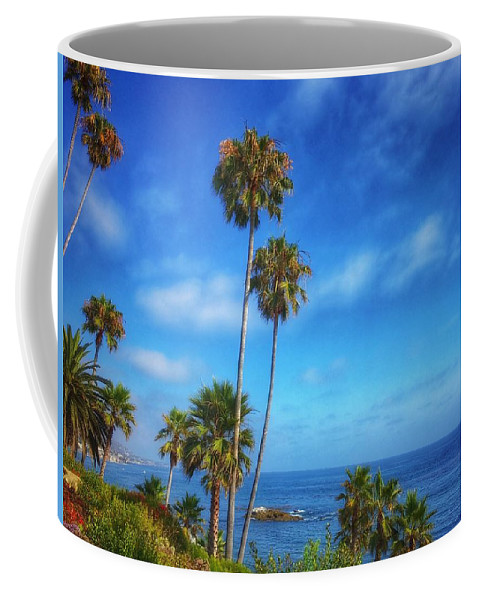 Photography Coffee Mug featuring the photograph Palm Trees On The Pacific by Dan Miller