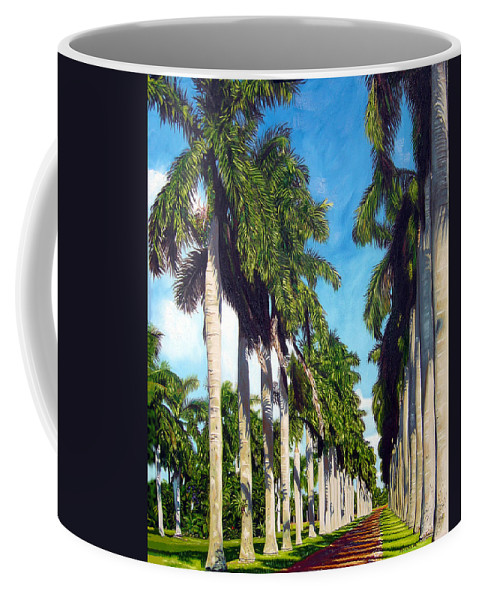 Palms Coffee Mug featuring the painting Palms by Jose Manuel Abraham