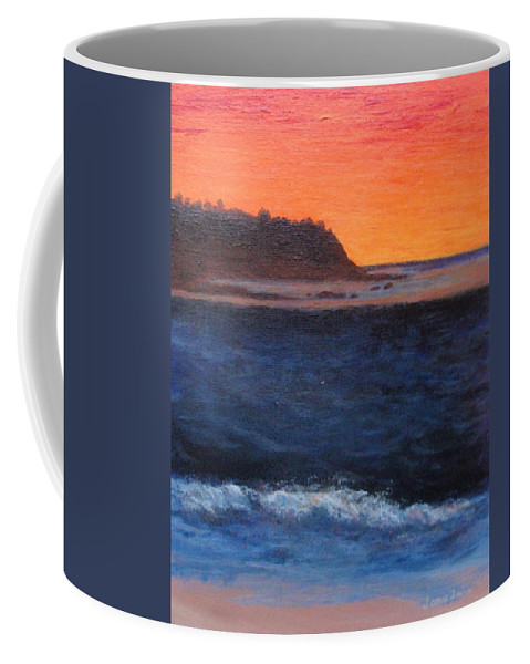 Sunset Coffee Mug featuring the painting Palos Verdes Sunset by Jamie Frier