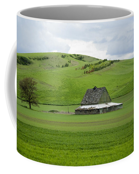 Palouse Coffee Mug featuring the photograph Palouse Old Barn by Louise Magno