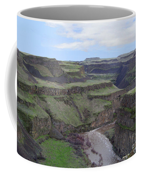 Palouse River Coffee Mug featuring the photograph Palouse River Canyon by Charles Robinson