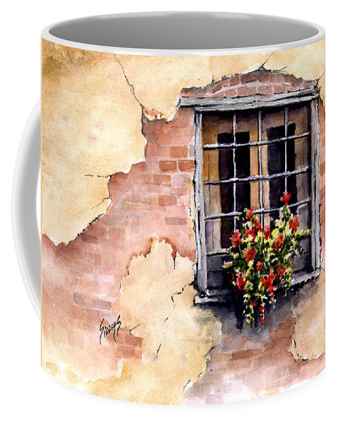 Window Coffee Mug featuring the painting Pampa Window by Sam Sidders