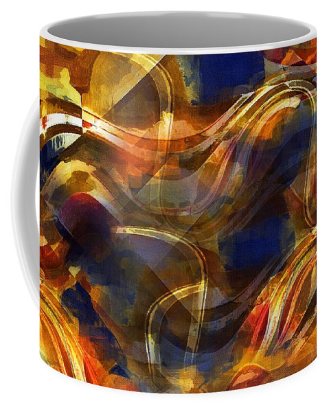 Abstract Coffee Mug featuring the painting Pamplona by RC DeWinter