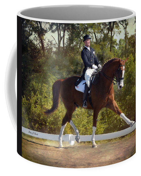Dressage Coffee Mug featuring the photograph Panache by Fran J Scott