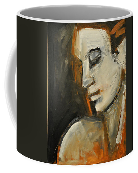 Woman Coffee Mug featuring the painting Pandora by Tim Nyberg