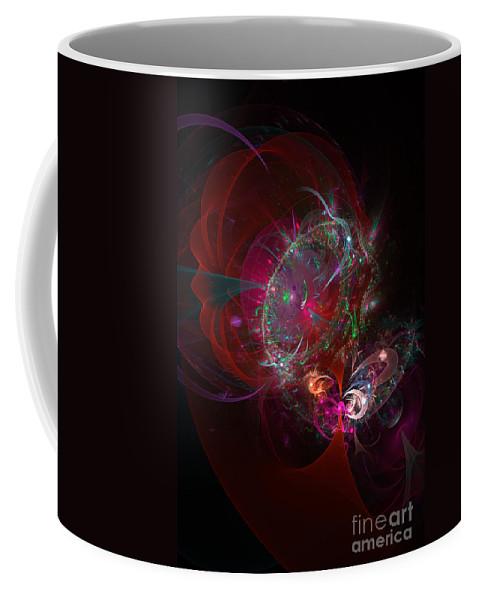 Abstract Coffee Mug featuring the digital art Pandora's Box by Ann Garrett