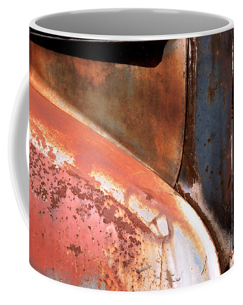 Abstract Coffee Mug featuring the photograph Panel From Ole Bill by Steve Karol