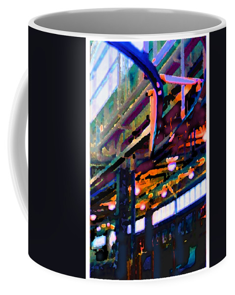 Abstract Coffee Mug featuring the photograph panel two from Star Factory by Steve Karol