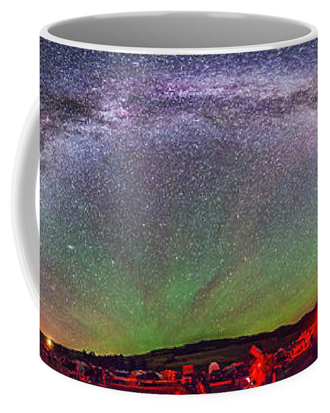 Big Dipper Coffee Mug featuring the photograph Panorama Of Milky Way Above The Table by Alan Dyer