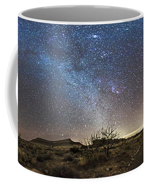 City Of Rocks State Park Coffee Mug featuring the photograph Panorama Of Milky Way And Zodiacal by Alan Dyer