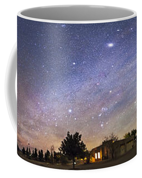 Aurora Coffee Mug featuring the photograph Panorama Of The Celestial Night Sky by Alan Dyer