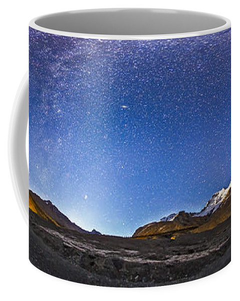 Athabasca Glacier Coffee Mug featuring the photograph Panorama Of The Columbia Icefields by Alan Dyer