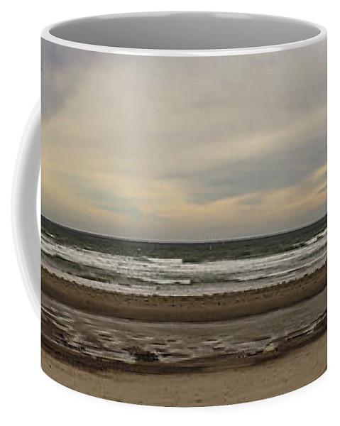 Panoramic Coffee Mug featuring the photograph Panoramic Of Nantasket Beach by Mike Poland