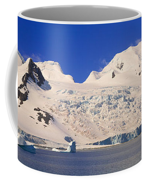 Photography Coffee Mug featuring the photograph Panoramic View Of Glaciers And Iceberg by Panoramic Images