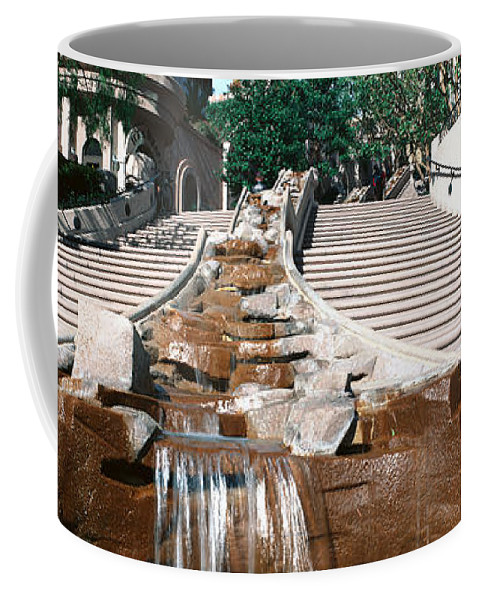 Photography Coffee Mug featuring the photograph Panoramic View Of Stairs And Waterfall by Panoramic Images