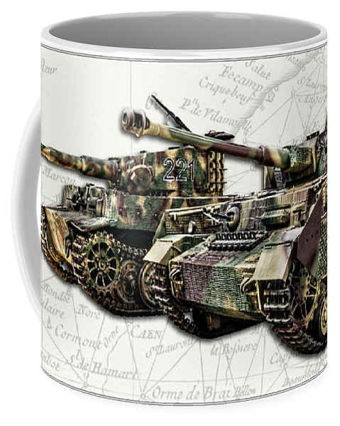 Panzer Iv And Tiger Tanks W Bg Coffee Mug