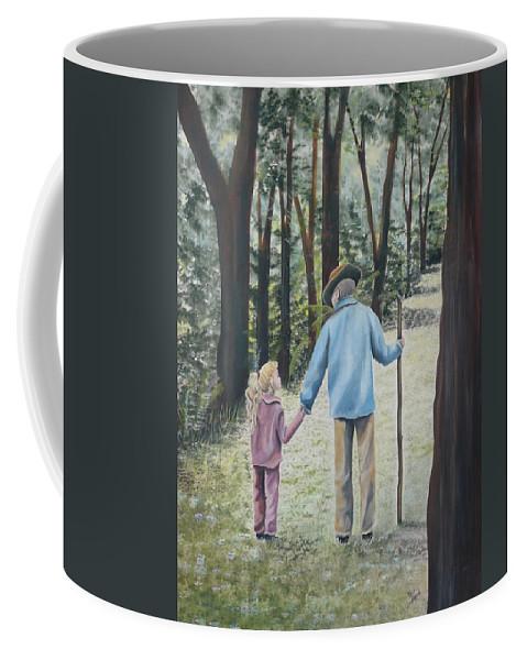 Grandfather Coffee Mug featuring the painting Papa by Kris Crollard