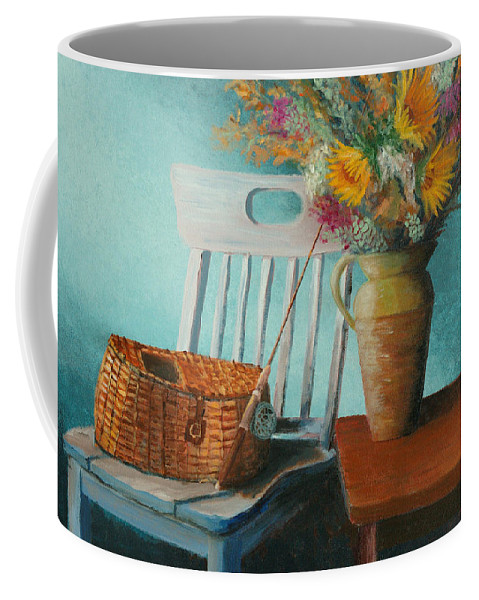 Floral Coffee Mug featuring the painting Papa's Pole by Jerry McElroy