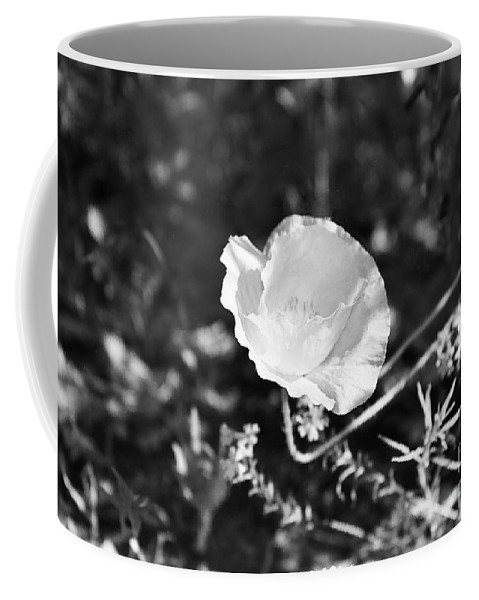 Flowers Coffee Mug featuring the photograph Paper Flower In B And W by Kathy McClure