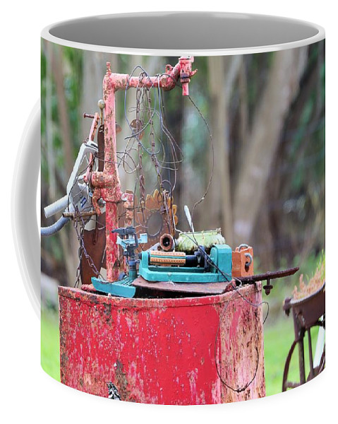 Coffee Mug featuring the photograph Paper Wieght by Jeff Downs