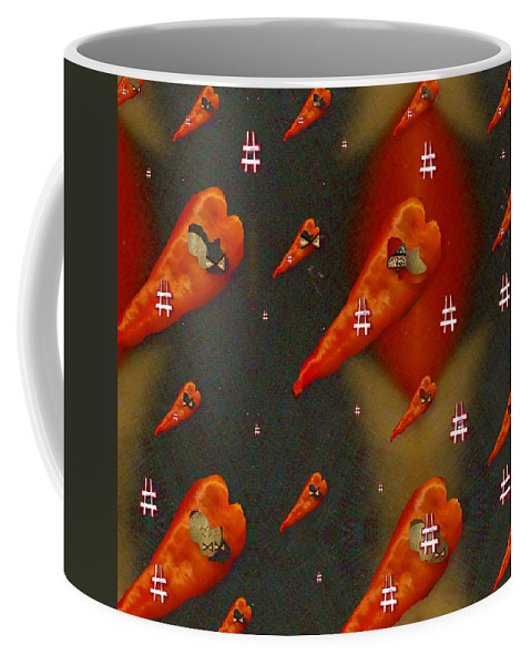 Paprika Coffee Mug featuring the mixed media Paprika And Fish Is Also A Dish by Pepita Selles