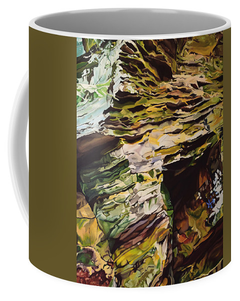 Moody Coffee Mug featuring the painting The Moody Paradise by Brittany Bert Selfe