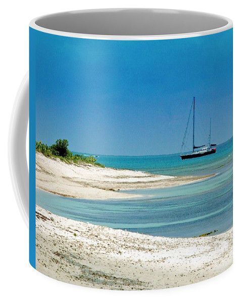 Boat Coffee Mug featuring the photograph Paradise Found by Debbi Granruth