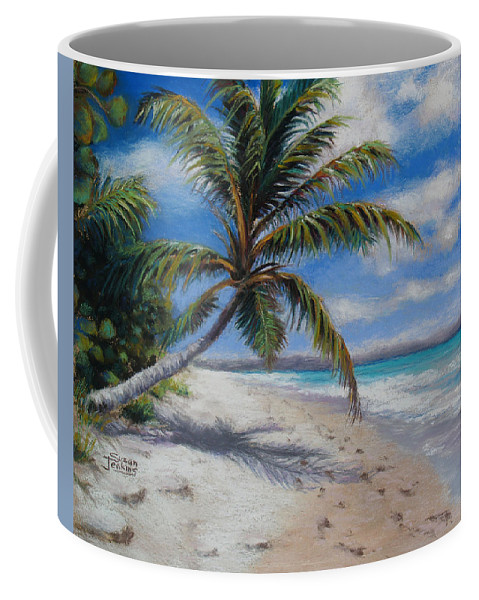 Landscape Coffee Mug featuring the pastel Paradise Found by Susan Jenkins
