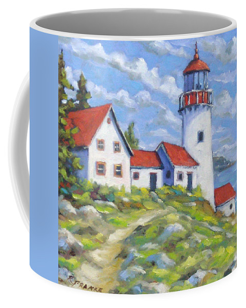 Art Coffee Mug featuring the painting Paradise On The Point by Richard T Pranke