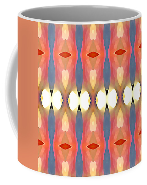 Abstract Art Coffee Mug featuring the painting Paradise Repeated by Amy Vangsgard