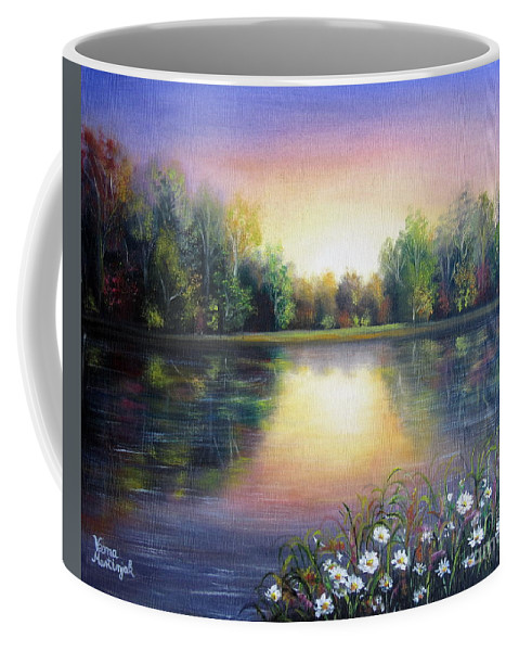 Landscape Coffee Mug featuring the painting Paradise by Vesna Martinjak
