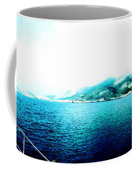 Landscape Coffee Mug featuring the digital art Paradise by Lyriel Lyra