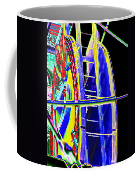 Seattle Coffee Mug featuring the digital art Paramount Theater Detail by Tim Allen